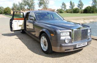 rolls royce phantom wedding car hire peterborough