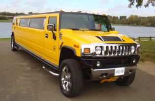 yellow limo hummer peterborough